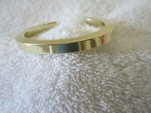 """Vintage Heavy Brass Cuff Bracelet Signed """"Locke"""" Early Patricia Locke?"""