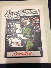 EX LIBRIS BOOKPLATE GEWERBE MUSEUM BASEL BALE BIBLIOTHEK 1902  SCHWEIZ SUISSE