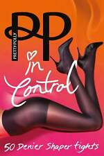 Pretty Polly Small to Medium Size Opaque 50 Denier Bodyshaper Tights in Black