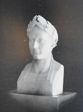 1897  Antique Art Print Napoleon I statue bust by Chaudet after the Death Mask