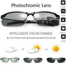 Sunglasses Mens Polarized Photochromic UV400 Anti Glare Transition Lens Eyeglass