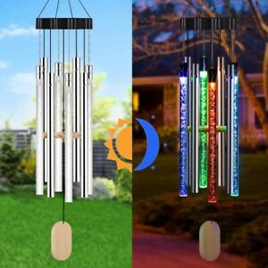 Solar Powered Musical Wind Chimes Light Colorful Bubble Home Decor Color Changer