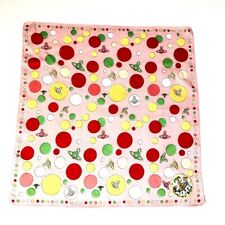 Vivienne Westwood Cotton Square/Scarf/Handkerchief/Bandana Orb Printed Pink