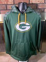 Green Bay Packers NFL Football Hoodie Hooded Sweatshirt Mens Size Large Stains