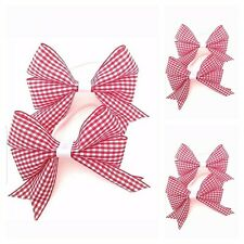 """perfect for school Handmade 4/"""" double Red school hair bow on a clip"""