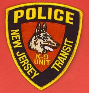New Jersey Police K9 Unit Patch