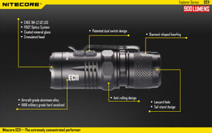 Nitecore EC11 900 Lumens Tiny Flashlight EDC Torch RED LED