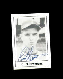 Curt Simmons Hand Signed 1978 Grand Slam Philadelphia Phillies Autograph