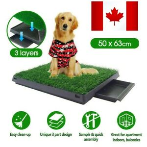 Indoor Dog Pet Potty Training Grass Mat Portable Toilet Large Loo Pad with Tray