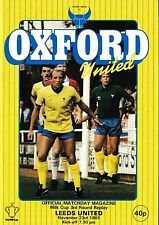 Football Programme>OXFORD UNITED v LEEDS UNITED Nov 1983 Milk Cup
