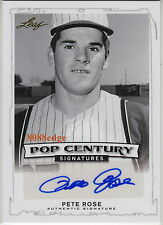 2014 LEAF POP CENTURY AUTO: PETE ROSE - AUTOGRAPH BASEBALL ALL-TIME HIT LEADER