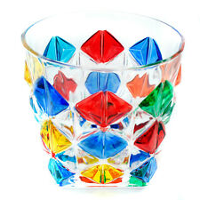 More details for murano glass drinking artisan glass tumbler multi coloured hand painted