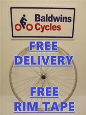 700c REAR NARROW RIM Hybrid / Road Bike Wheel - Q/R - SCREW ON Alloy Hub