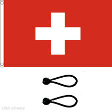 Switzerland  Flag 5 x 3 Ft Flag. Comes With Free Ball Ties