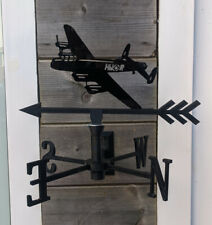 More details for the mighty lancaster bomber acrylic garden weather vane wall, pole or post mount