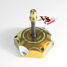 Apico Anodised Fuel Cap inc Vent Pipe Suzuki RM85 02-16, RM125 RM250 01-08 GOLD