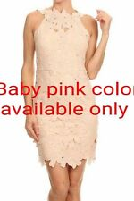 Cute ladies dress, party dress in baby pink, size M