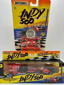 Matchbox Indy 500 Formula 1 Scotch Race Car & COE Tractor Truck w Trailer Lot