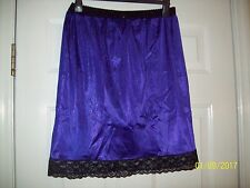 PURPLE Tricot SLIP & PANTY COMBO - Men & Women * 29-44 Waist * Slip Length 22""