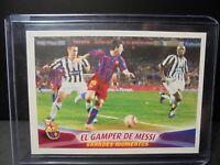 Messi 2005/2006. 2º rookie Barcelona.Panini. #80 El gamper de Messi