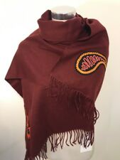 Paul Smith Women Scarf Made In England Paisley Dark Red RRP£320