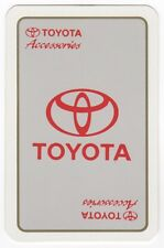 Playing Cards 1 Swap Card - Old Vintage TOYOTA Car Accessories LOGO Advertising