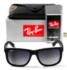 Ray-Ban Justin Wayfarer RB4165 622/T3 55mm Grey Gradient Polarized Sunglasses