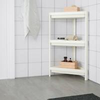 IKEA Badregal Regal Eckregal Standregal 3 ablagen weiß,33x33x71cm Badezimmer