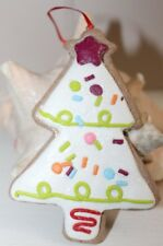 Christmas tree sugar cookie clay dough ornament