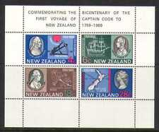 New Zealand 1969 Cpt Cook/Ship/Map/200yrs 4v m/s n20671