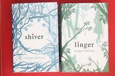 THE WOLVES OF MERCY FALLS - BK 1 SHIVER & BK 2 LINGER - Maggie Stiefvater HC/DJ