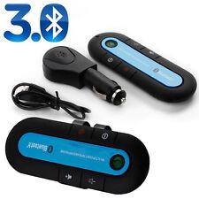 Slim Wireless Bluetooth KFZ Freisprecheinrichtung mit Sonnenblendenclip Blau