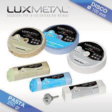 Kit per lucidare pulire acciaio inox graffiato ossidato pulitore pulizia pulisci