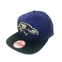 Baltimore Ravens New Era 9Fifty NFL Snapback Hat Adjustable Black Purple Cap