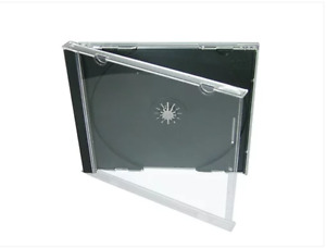 (10pcs) x Jewel CD DVD Standard Cases (with Black Tray) - Hold Single 1 Disc