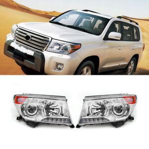 For Toyota Land Cruiser LC200 2008-15 LED Front Headlights Head Light Lamp 2Pcs