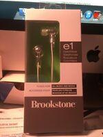 BROOKSTONE COLOR WAVE e1 EARPHONES - ALL MUSIC AND MEDIA - New