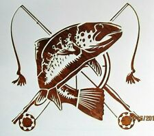 Fly Fishing Trout Stencil / Template Reusable 10 mil Mylar