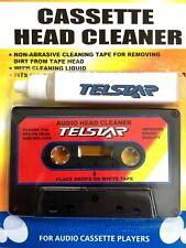 Audio Cassette Tape Head Cleaner with Cleaning Solution-Bigger Liquid Bottle NEW