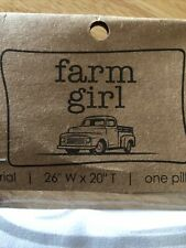 Farm Girl Pillow Case Bedding 26 inches wide by 20 inches tall