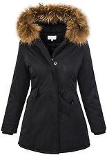 Designer damen parka winterjacke mantel outdoor warme damenjacke D-204 XS-XL