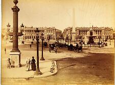 Original-photo, gr. ca 1880, Francia, París, place de la Concorde
