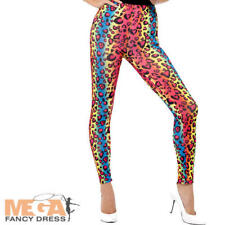 Neon Leopard Print 80s Leggings Fancy Dress Costume Accessory Smiffys 26673