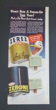 Original 1942 Print Ad DU PONT Zerone Zerox Anti-Freeze Duck