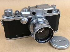 Canon IIB Rangefinder Camera w/ 50mm f/1.9 Serenar Collapsible LTM39 Leica Lens