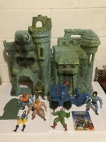 Masters of the Universe MOTU He-Man lot Vintage Castle Grayskull Faker Skeletor