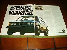 1977 BMW 320i  ORIGINAL 2 PAGE AD