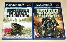 2 PLAYSTATION 2 SPIELE SET - BROTHERS IN ARMS - EARNED IN BLOOD ROAD TO HILL 30