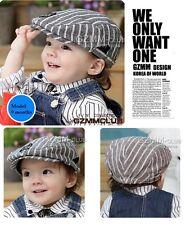 Handsome Stripe Everyday Baby Boy Cotton Hat Cap Beanie / 6 month-2 yrs