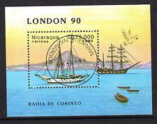 0116++NICARAGUA  BLOC  VOILIERS 1986   LONDON 90